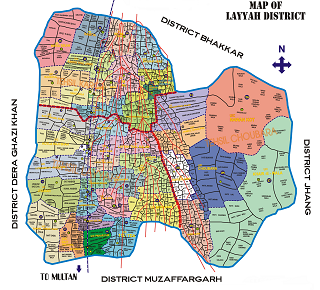 Map Of Layyah District